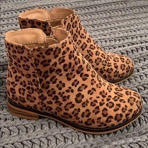 Toddler girls cheetah booties